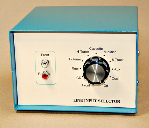 Photo of finished line input selector
