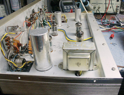 Eico ST-84 preamp with the completed transformer
